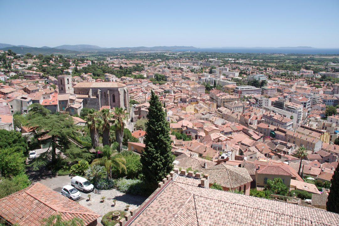 Panorama sur Hyère depuis le Parc du Castel Sainte-Claire