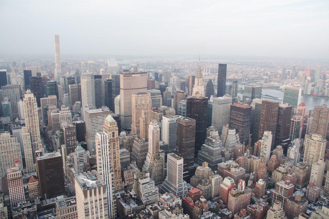Vue sur Manhattan depuis l'Empire State Building