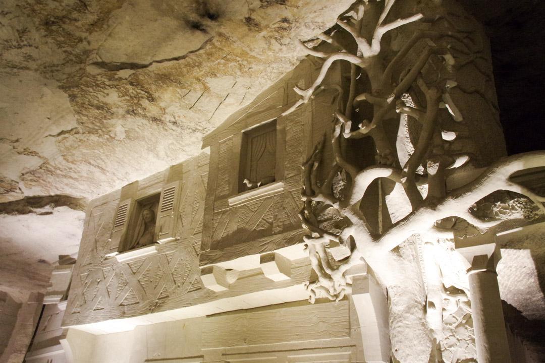 Visite d'une cave champignionnière