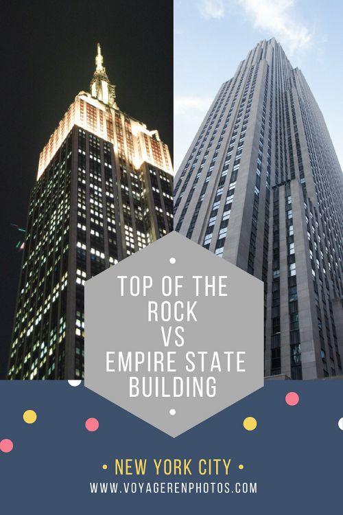 Admirer Manhattan vue de haut est un incontournable lors d'un séjour à New York. Si le temps vous est compté, que choisir entre le Top of the Rock ou l'Empire State Building ?