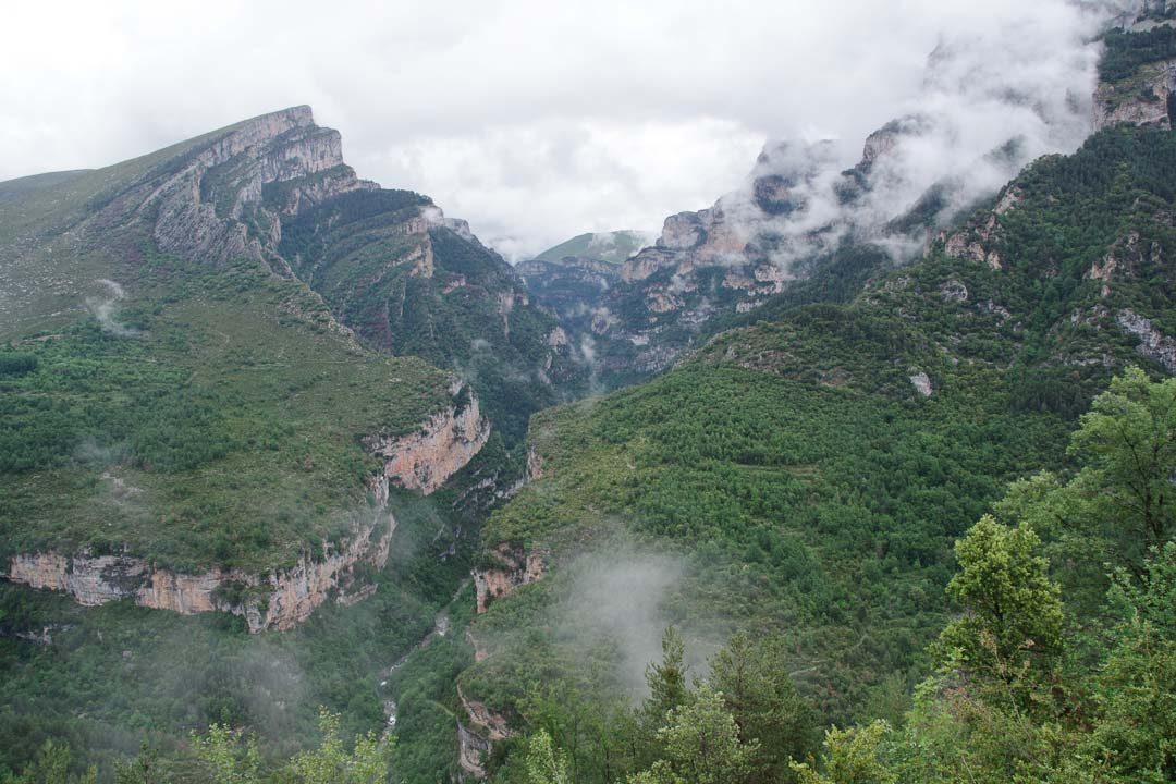 Vue sur le Canyon d'Anisclo dans les Pyrénées espagnoles