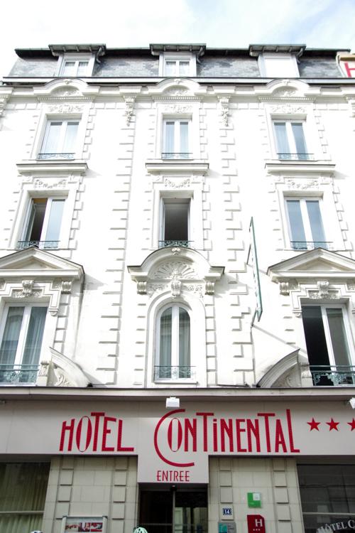 Facade de l'hôtel Continental à Angers