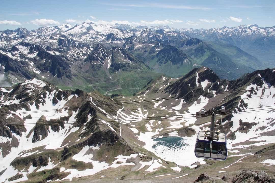 Panorama depuis le sommet du pic du midi de bigorre