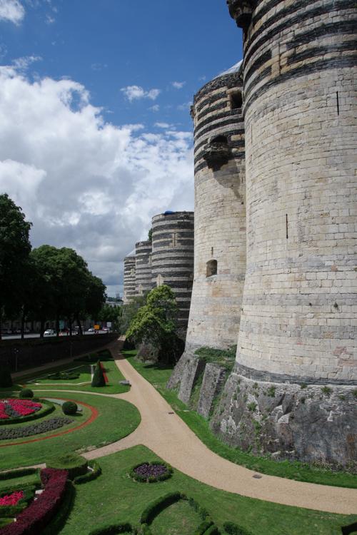 remparts extérieur du chateau d'Angers