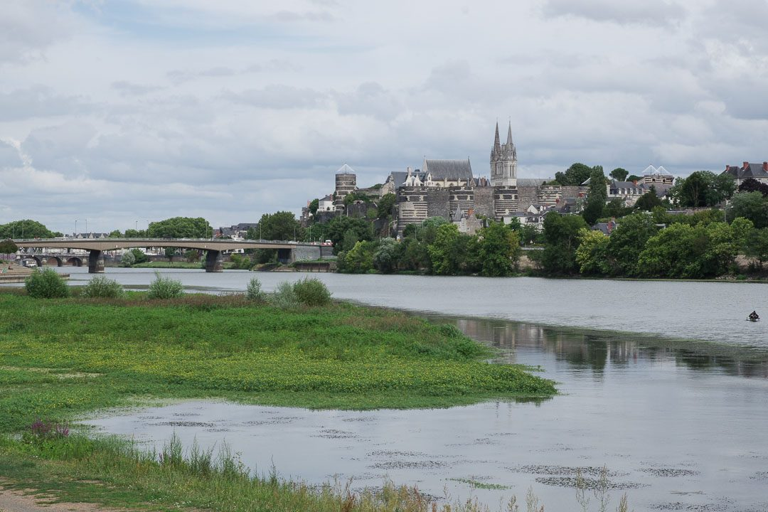 les bords de la maine à Angers