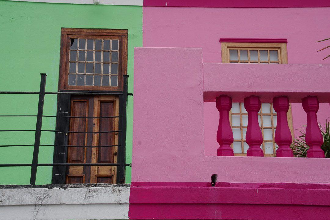 les maisons colorées du quartier de Bo Kaap