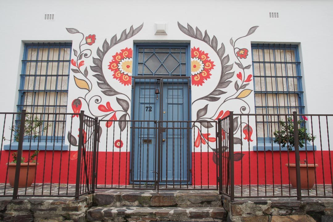une maison décorée du quartier de Bo Kaap