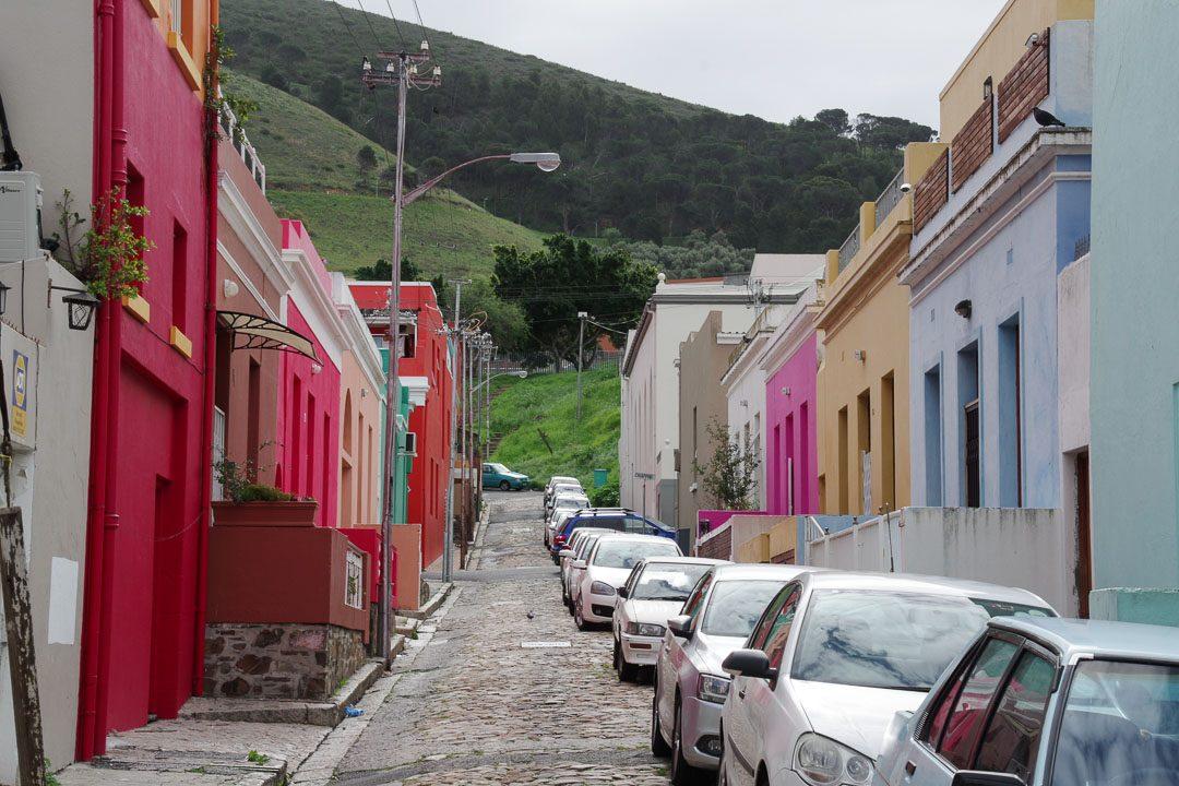 quartier de bo kaap et ses maisons colorées