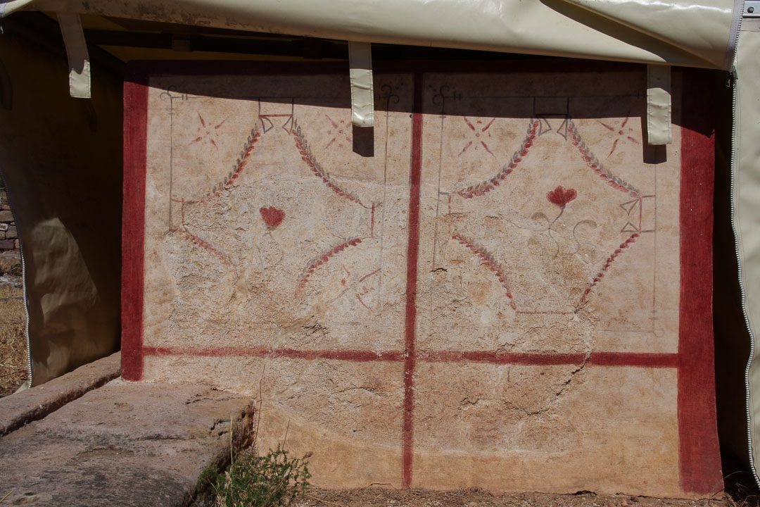 un comptoir peint de l'époque romaine à Olbia