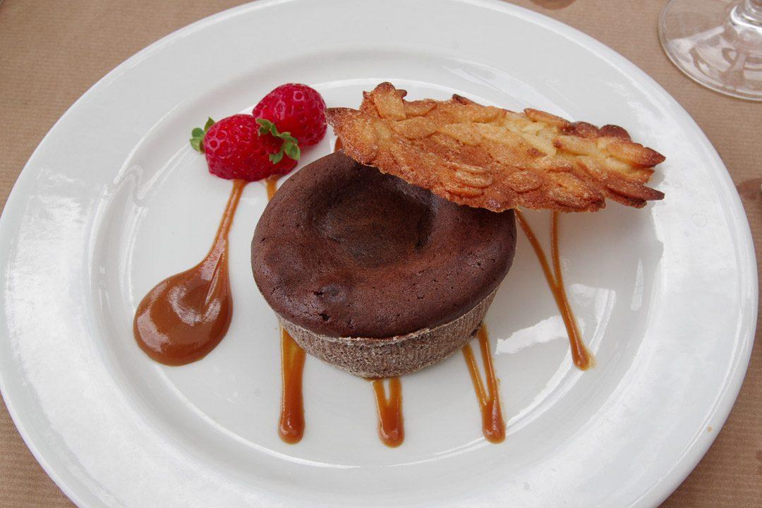 dessert moelleux au chocolat - la croisette - Behuard