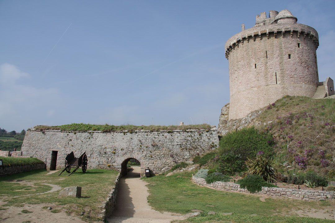 cour intérieur de Fort La Latte