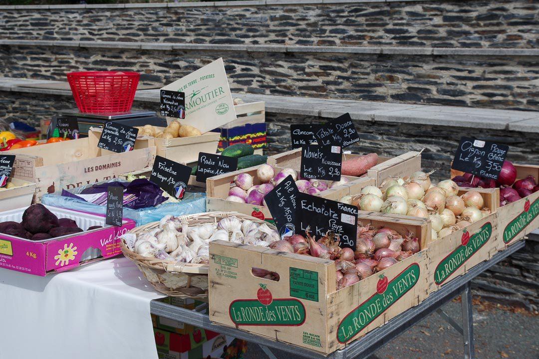 Sur le marché de Bouchemaine