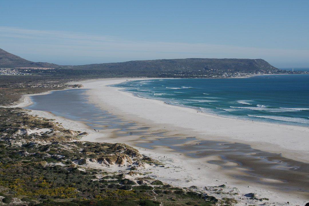 Panorama sur la plage de Noordhoek