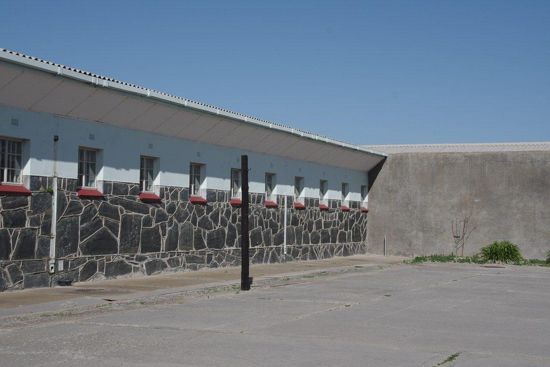 cour de la prison de sécurité maximale de Robben Island