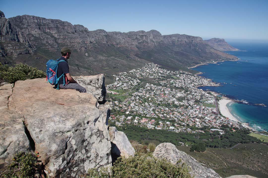 Panorama sur Cape Town depuis le sommet de Lion's Head
