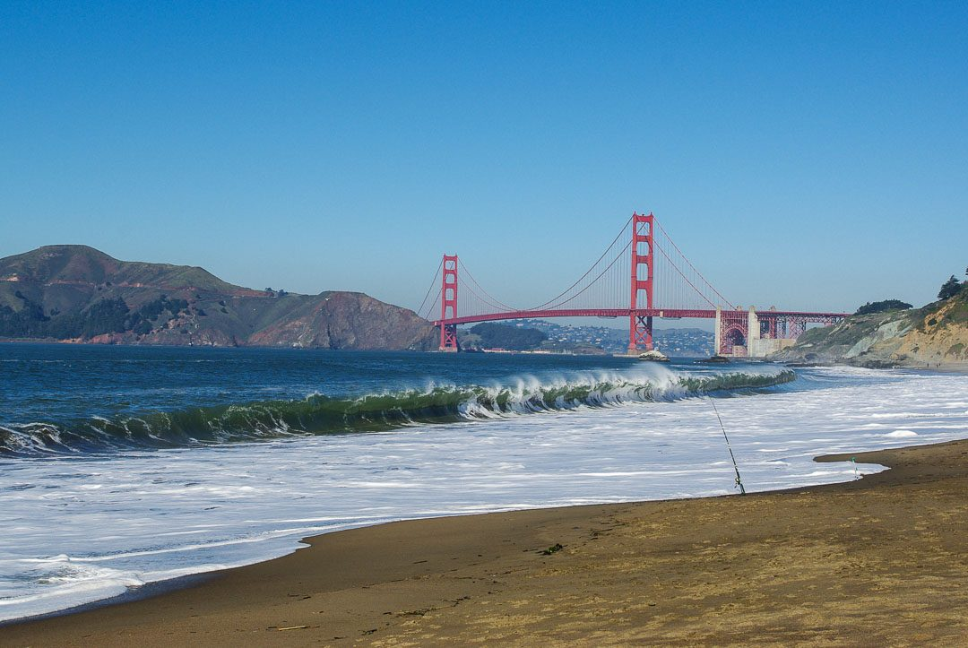 Golden Gate Bridge vu depuis Baker Beach