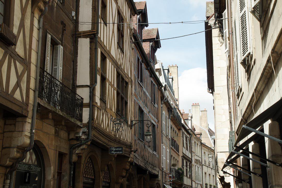 les maisons à colombages dans le centre-ville de Dijon