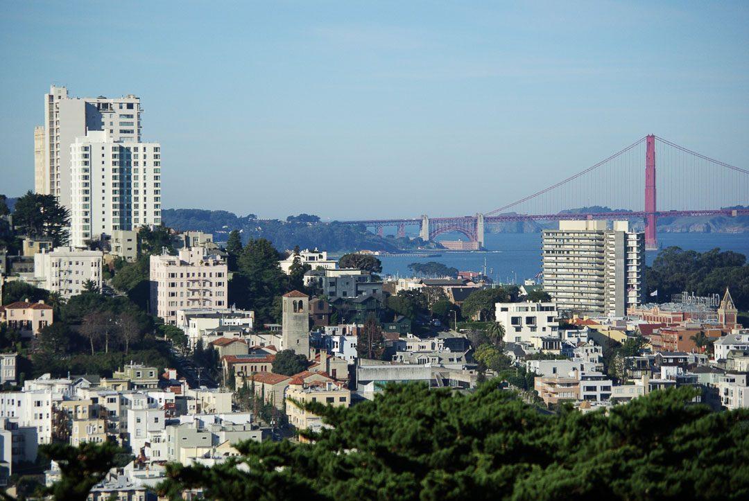 Panorama sur San Francisco vue depuis le parc Pioneer