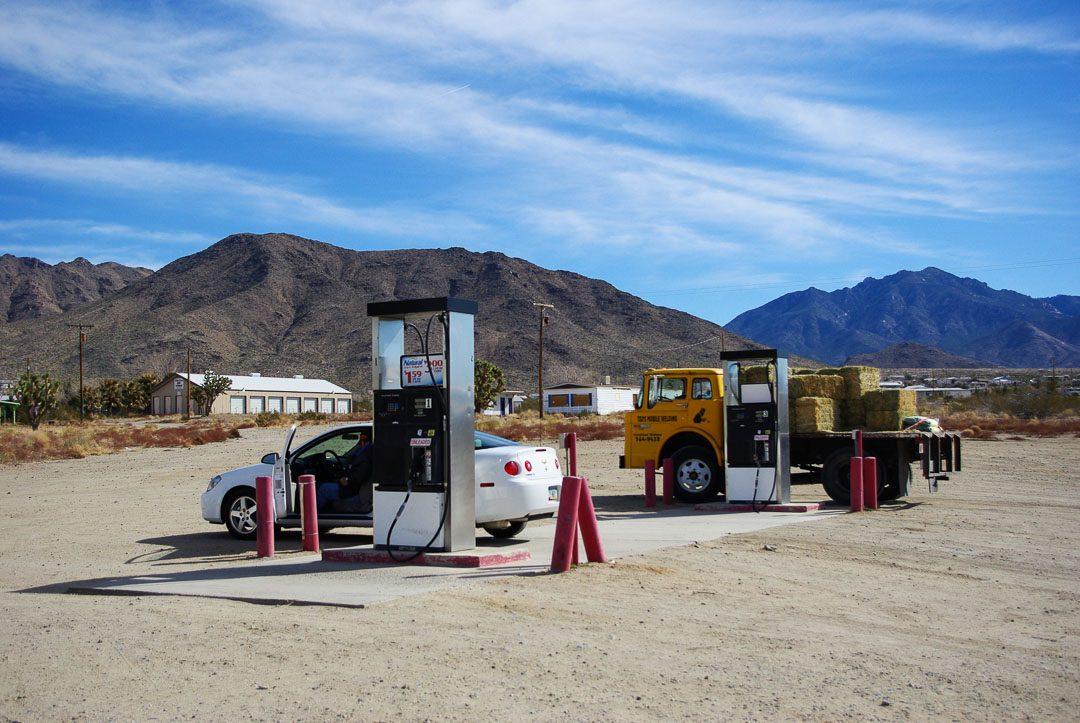 une station essence dans l'Arizona