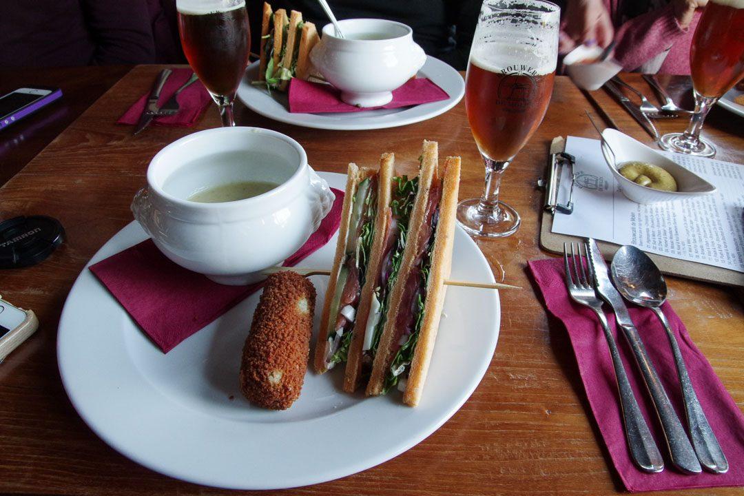 déjeuner au Broucafe de Molen - Pays-Bas