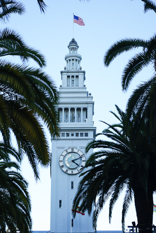 la tour de l'horloge du ferry building