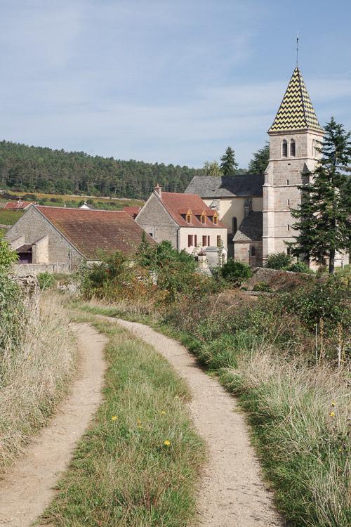 le village de Fixin en Côte d'Or - Bourgogne