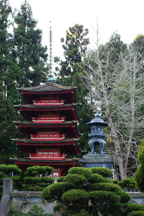 Pagode dans le Jardin japonais de San Francisco