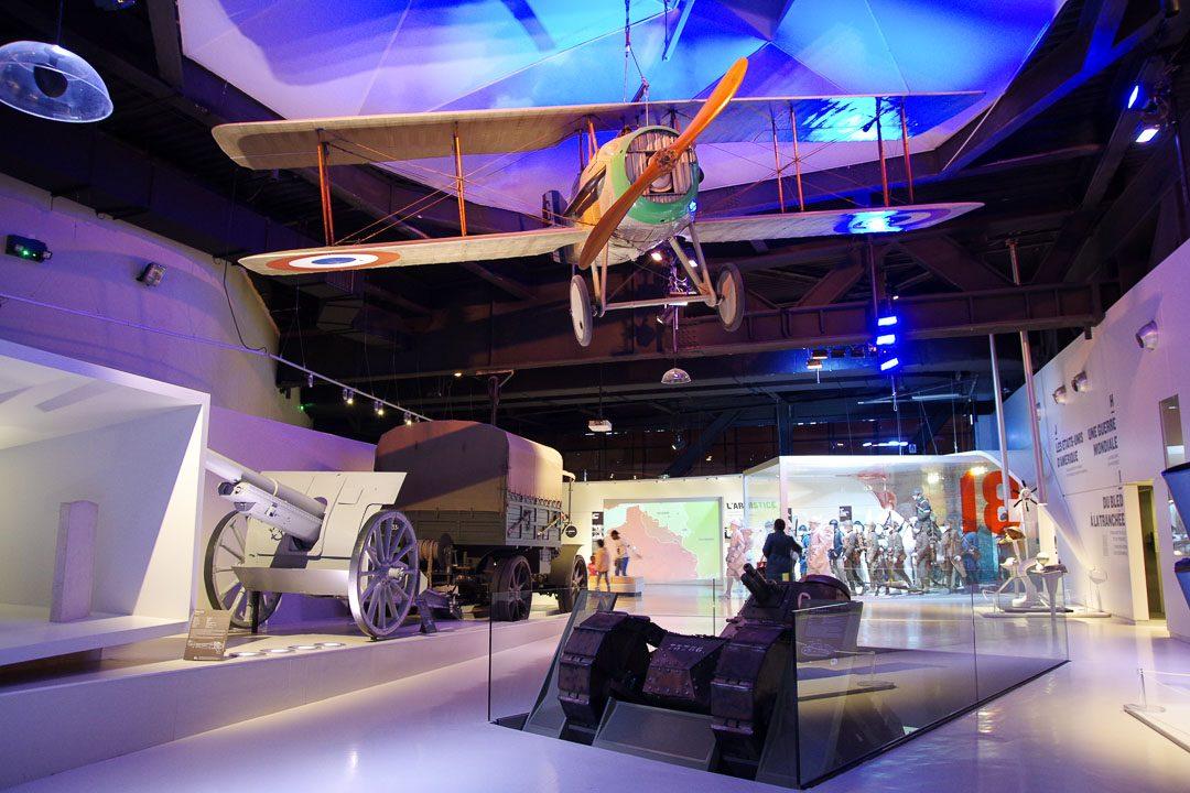 Salle d'exposition au musée de la Grande Guerre