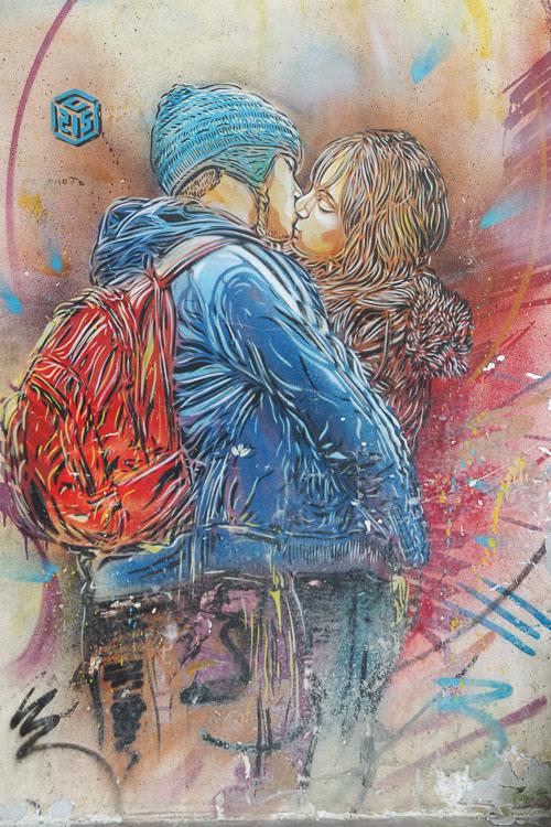 Fresque Street Art de C215