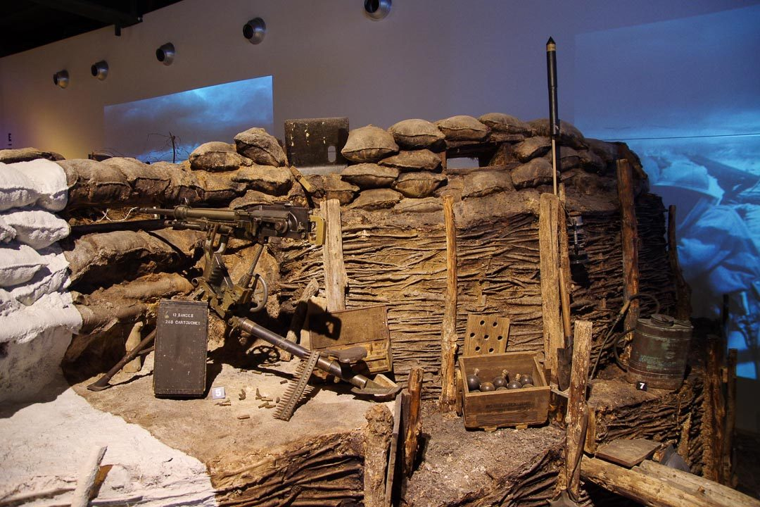 reconstitution de tranchée au musée de la Grande Guerre