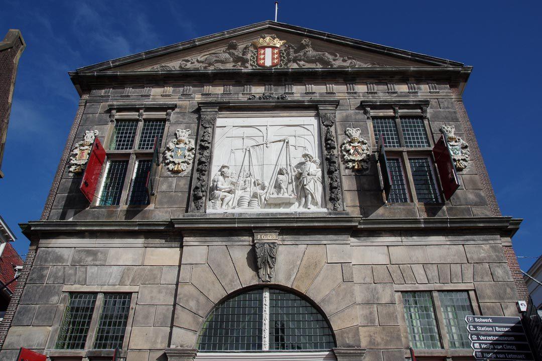 Facade du batiment de Waag à Gouda