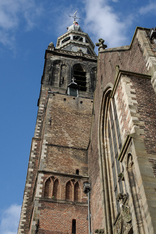 Clocher de l'église St Janskerk à Gouda