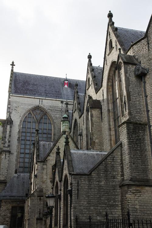 Exterieur de l'église Sint Janskerk à Gouda