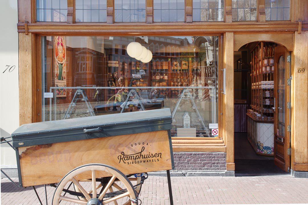 boutique Kamphuisen pour des gaufres à la Mélasse à Gouda