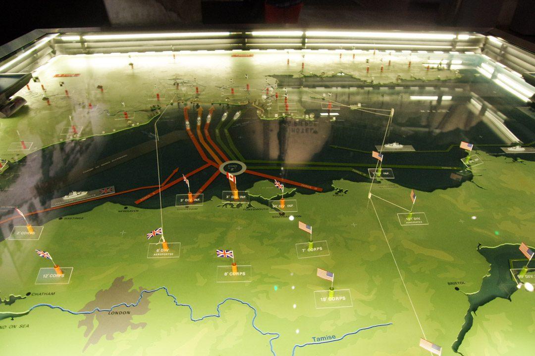 Maquette de l'opération du Débarquement de Normandie