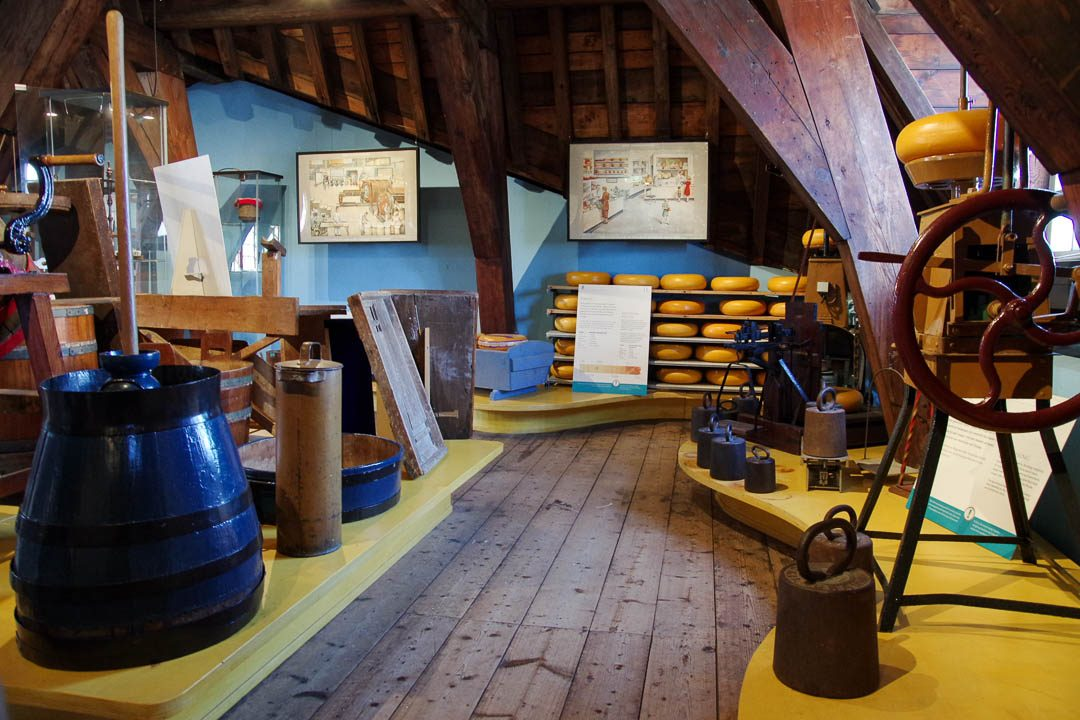 intérieur du musée du fromage de gouda
