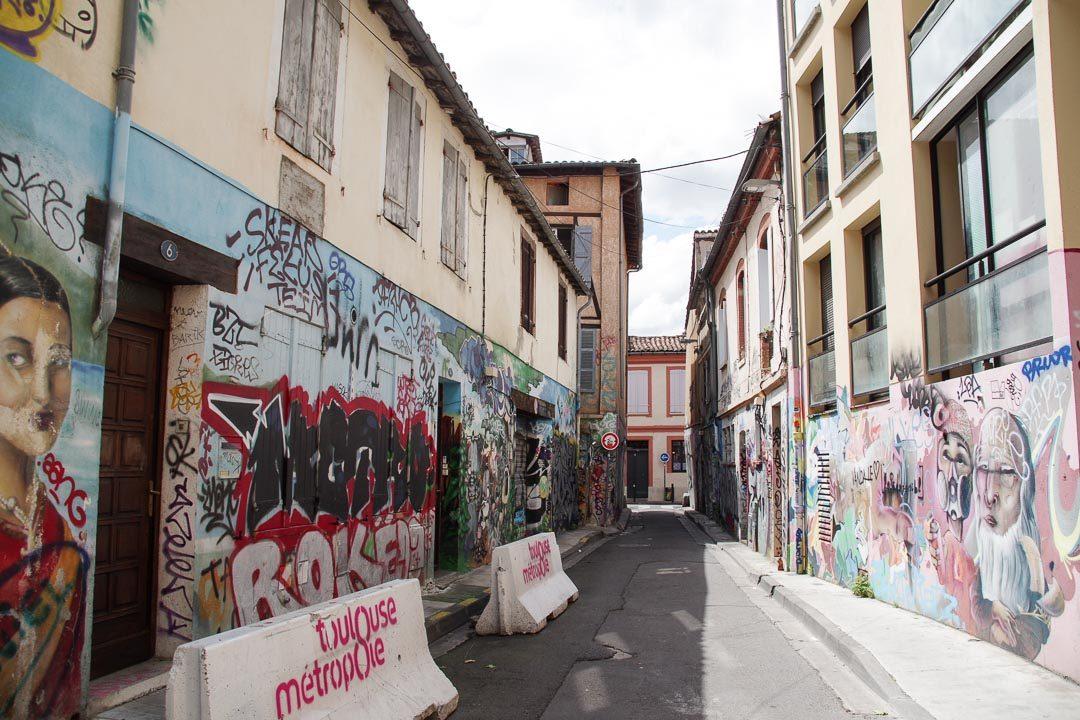 Street art rue Gramat à Toulouse