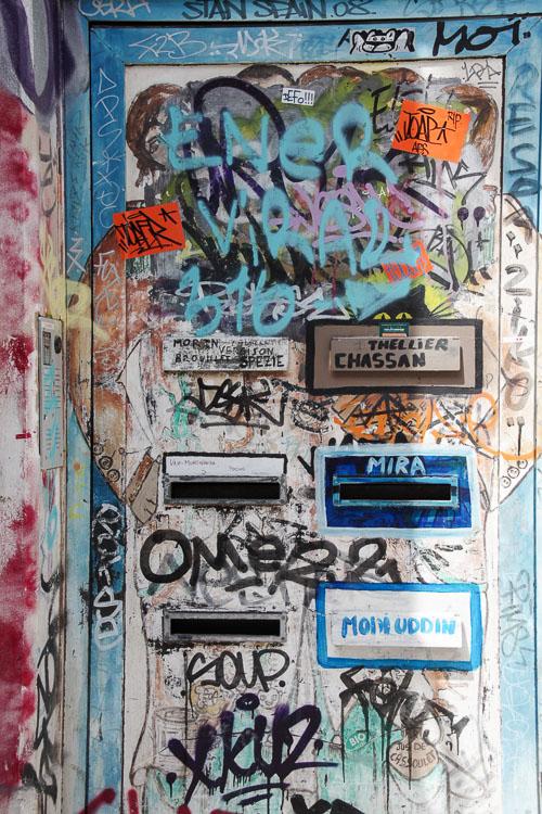 détail de street art de la rue gramat à Toulouse