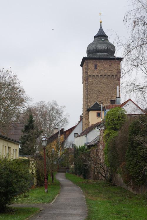 chemin Am Stadtgraben autour des remparts de Durlach