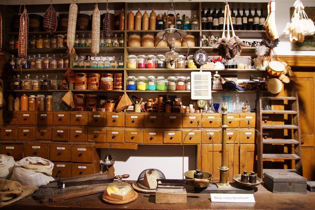 Reconstitution d'une boutique - Musée régional de Bade à Karlsruhe