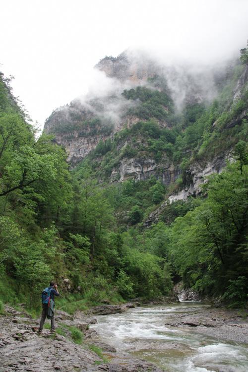 randonnée dans le canyon d'Anisclo