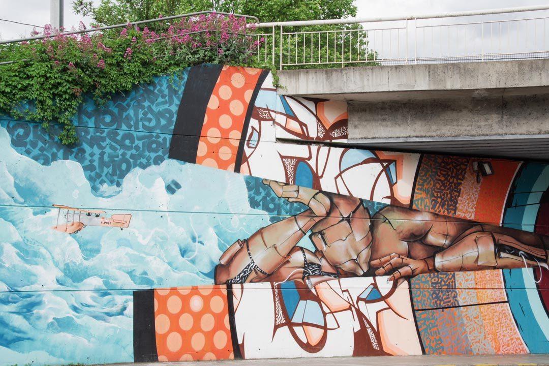 Fresque la Piste des Géans à Toulouse