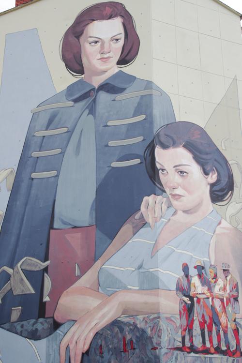 Fresque réalisée pour le festival Rose Beton