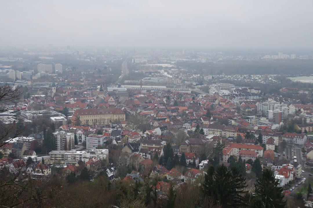 Panorama sur Karlsruhe depuis la Tour de Turmberg