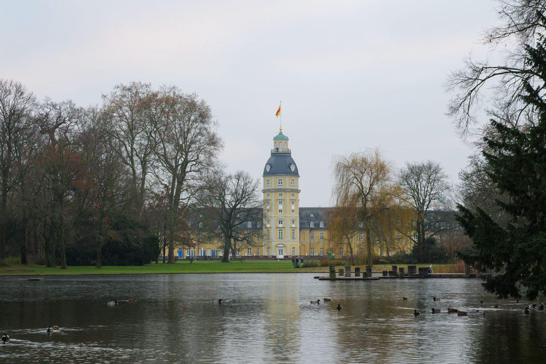 balade dans le parc du chateau de Karlsruhe