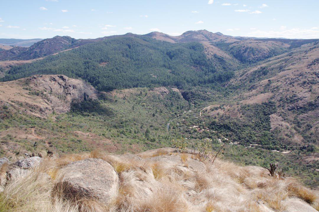 Paysage montagneux du Swaziland