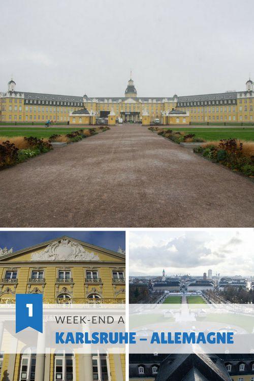 Visiter Karlsruhe en Allemagne en un week-end : château de Karlsruhe, visite des musées, balade au village médiéval de Durlach, bonnes adresses...