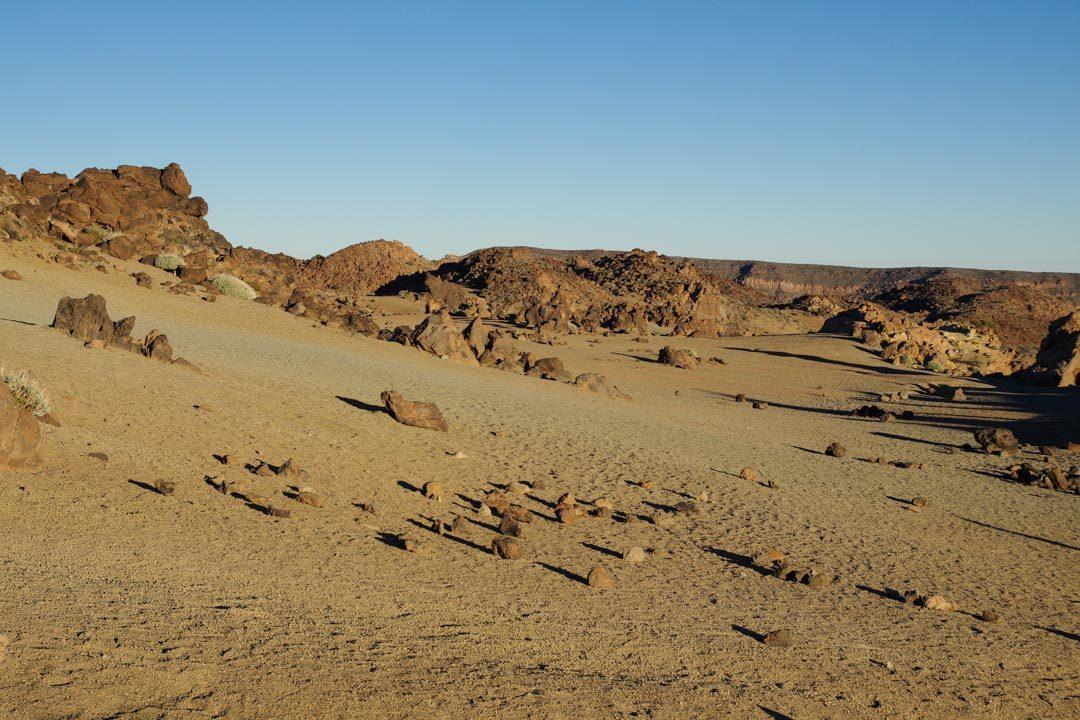 le désert de sable dans le parc du Teide - Tenerife