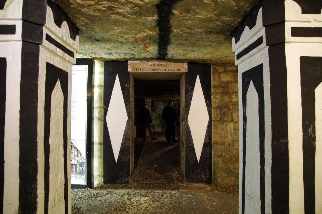 Entrée de l'ossuaire des catacombes