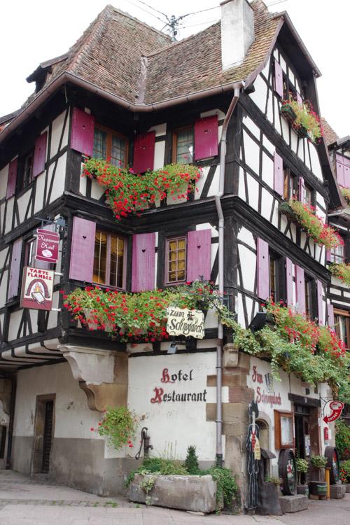 Une maison traditionnelle d'Alsace à Obernaii
